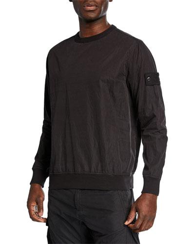 Men's Nylon Crewneck Sweatshirt