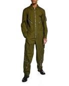 Helmut Lang Men's Cotton Twill Aviator Suit