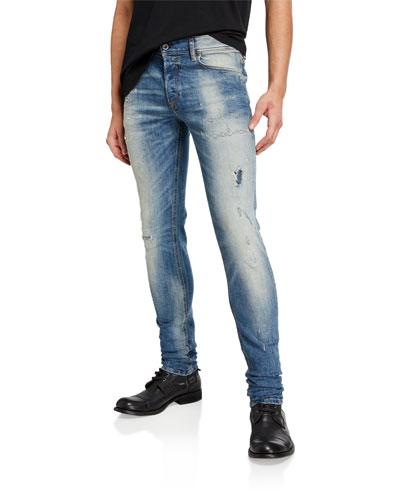 Men's Sleenker DK Skinny Distressed Jeans