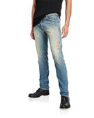 Diesel Men's Thommer Slim Fit Ripped Denim Jeans