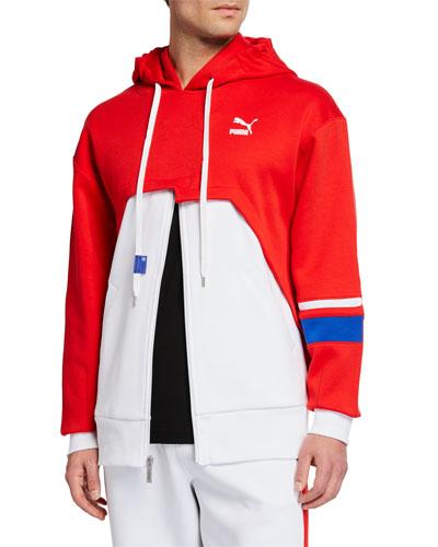Men's Puma x Ader Colorblock Zip-Front Hoodie