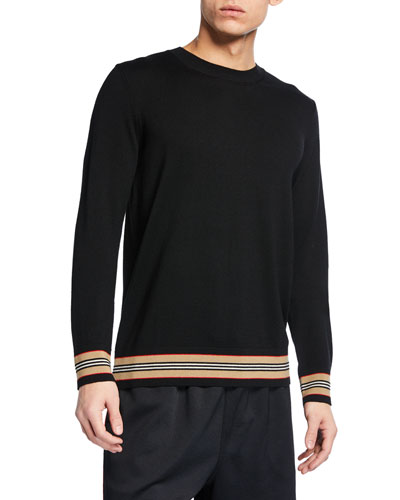 735462d40 Quick Look. Burberry · Men s Barner Striped-Trim Wool Sweater