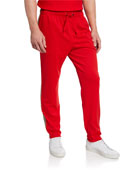 Burberry Men's Sorrento Drawstring-Waist Pants, Bright Red