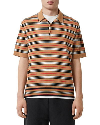 Men's Beaford Striped Wool Polo Shirt