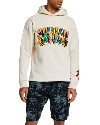 Men's Tropical Summer Graphic Hoodie
