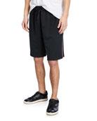 Burberry Men's Adrian Drawcord Side-Stripe Shorts