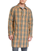 Burberry Men's Belmont Signature Check Rain Jacket