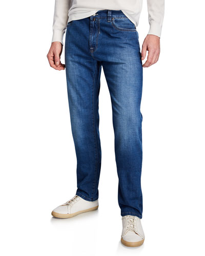 Men's Lightweight Denim Straight-Leg Jeans
