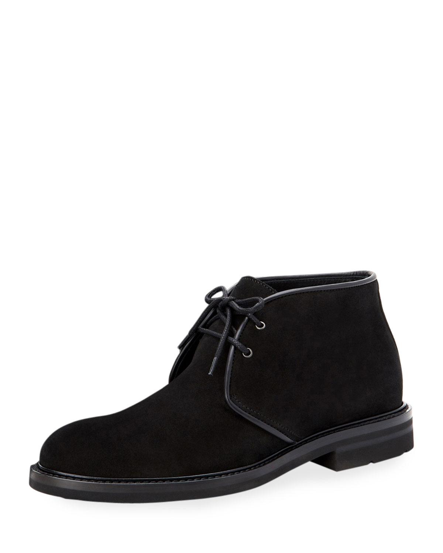 Aquatalia Boots MEN'S RINALDO SUEDE LACE-UP CHUKKA BOOTS