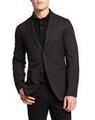 Boglioli Men's Herringbone Two-Button Wool Jacket