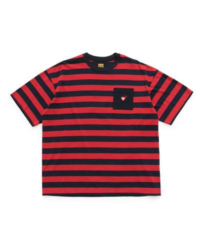 Men's Border Pocket Striped T-Shirt