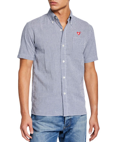Men's Seersucker Short-Sleeve Sport Shirt