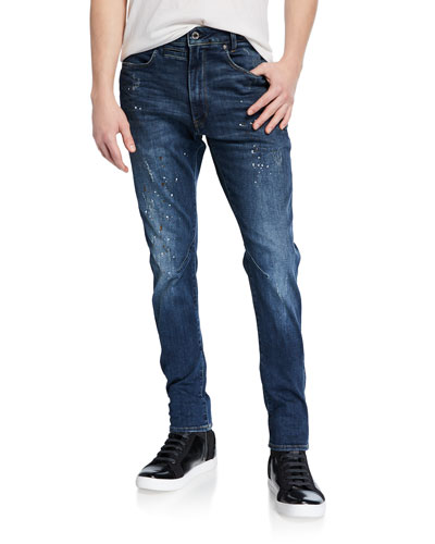 Men's D-Staq 5-Pocket Paint-Distressed Men's D-Staq Elto Paint Destroy Jeans