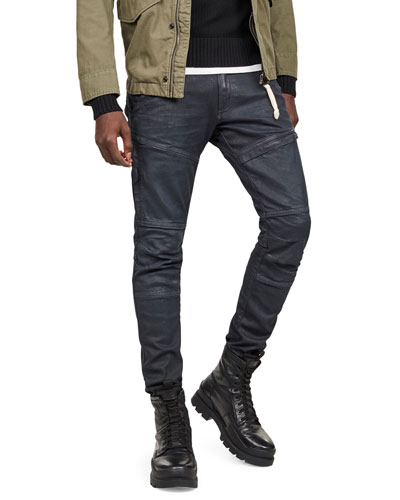 Men's Rackam Waxed-Denim Skinny Jeans