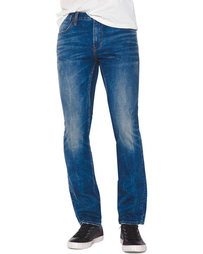 Men's Bowery-Fit Mid-Wash Jeans