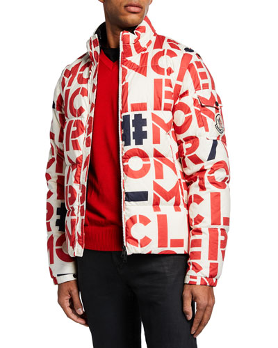Men's Jehan Logo-Print Puffer Jacket