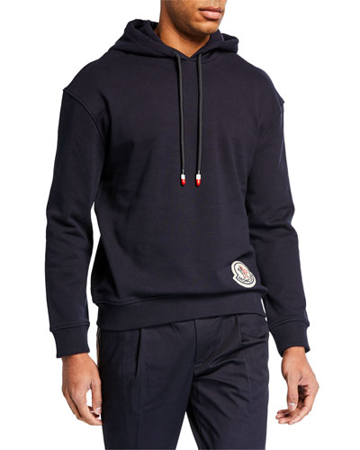 Men's Pullover Hoodie w/ Logo Patch