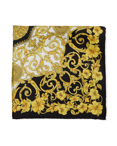 d98f4690b75 Quick Look. Versace · Men s Baroque Floral Silk Twill Scarf