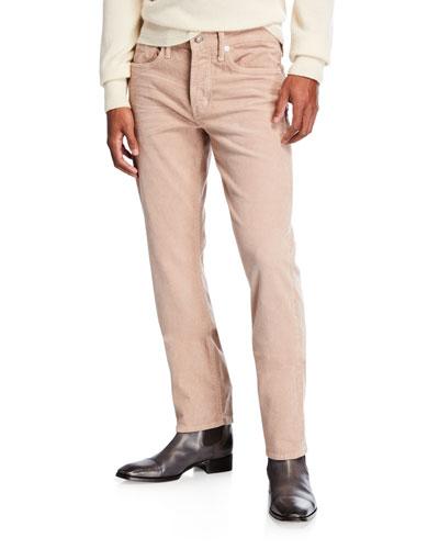 Men's Five-Pocket Slim-Fit Corduroy Pants