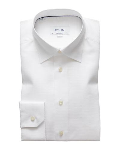 Men's Textured Contemporary-Fit Dress Shirt