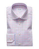 Eton Men's Contemporary-Fit Two-Tone Check Sport Shirt