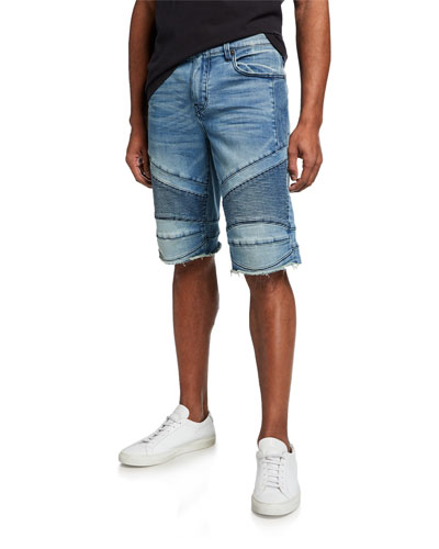 Men's Geno Moto Low Frequency Slim Denim Shorts
