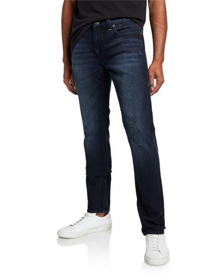 True Religion Men's Rocco Moto Dark Terrain Denim Jeans