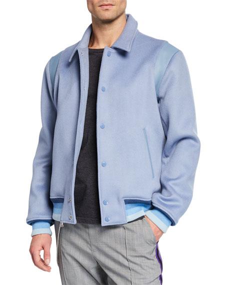 Ovadia Men's x Victor Cruz Wool Varsity Jacket