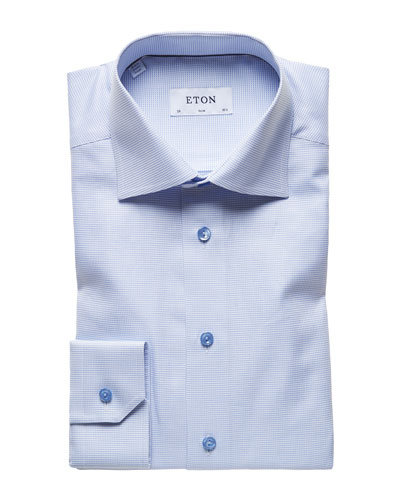 Men's Textured Twill Slim-Fit Dress Shirt