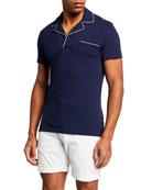 Orlebar Brown Men's Donald Polo Shirt w/ Contrast