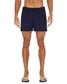 Orlebar Brown Men's Setter Contrast-Piping Swim Trunks