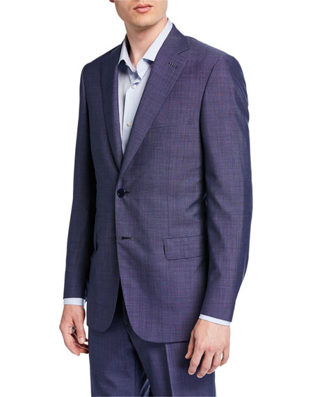 Brioni Men's Tic-Pattern Wool Two-Piece Suit
