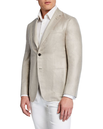 Men's Silk-Blend Soft Jacket