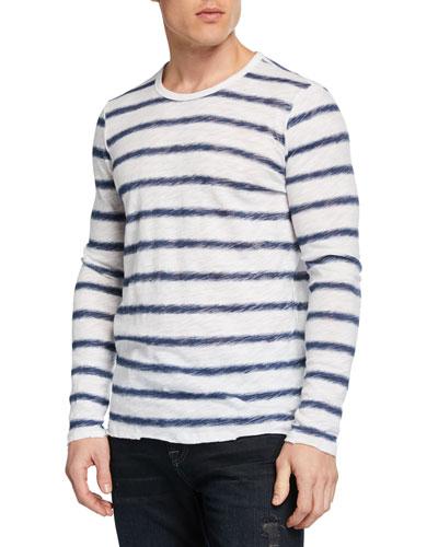 Men's Watermark Stripe Long-Sleeve T-Shirt