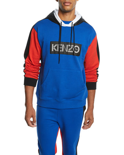 Men's Colorblock Logo-Patch Hoodie