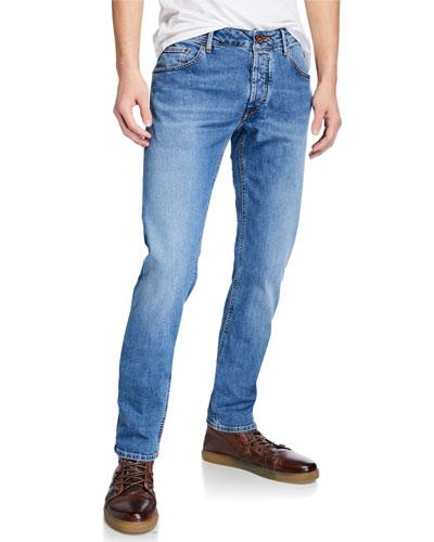 Men's Yagi Light-Wash Stretch Denim Jeans