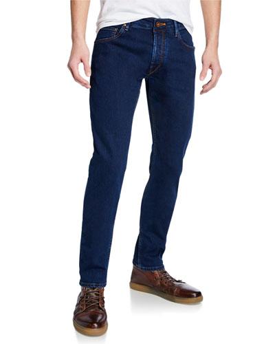 Men's Dark-Wash Stretch Denim Jeans