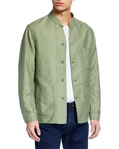 Men's Button-Front Soft Jacket