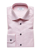 Eton Men's Light Gingham Check Slim-Fit Dress Shirt