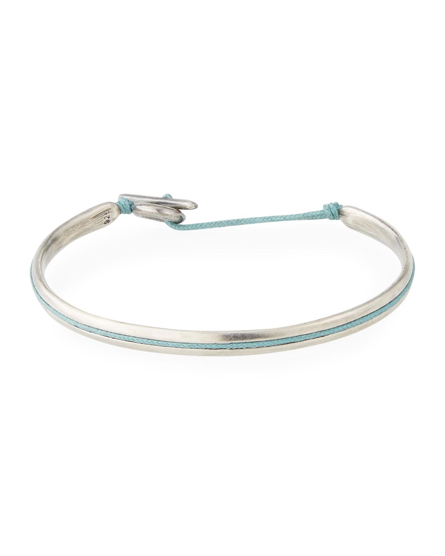 Men's Slim Oval Cuff Bracelet