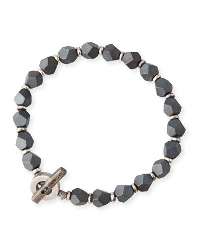 Men's Hematite Axiom Bracelet, Gray