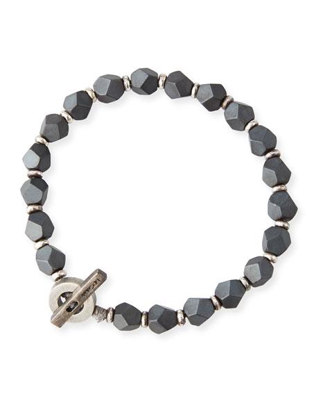 M. Cohen Men's Hematite Axiom Bracelet, Gray