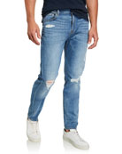 7 for all mankind Men's Paxtyn Distressed Denim