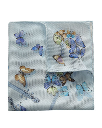 Butterfly Guitar Cotton Pocket Square