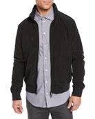 Emporio Armani Men's Short Nylon Bomber Jacket