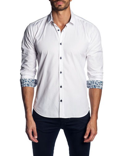 Men's Sport Shirt with Contrast Facing
