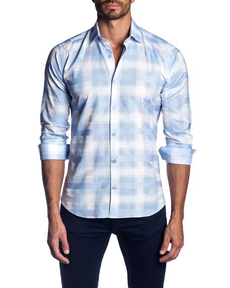 Jared Lang Men's Plaid Cotton Sport Shirt