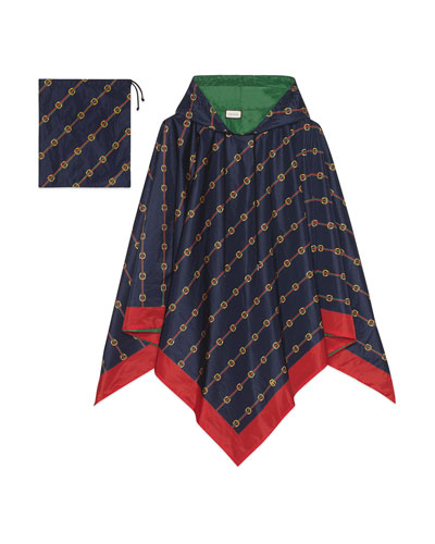 Men's Reversible Nylon Rain Poncho