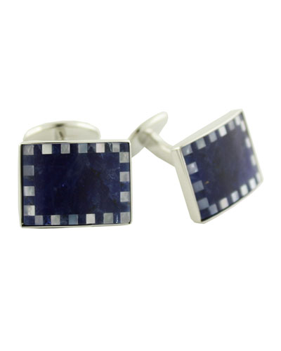 Men's Sodalite & Mother-of-Pearl Cufflinks