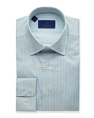 David Donahue Men's Two-Tone Grid Regular-Fit Dress Shirt,